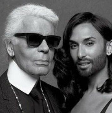 Karl Lagerfeld und Conchita Wurst