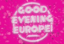 "Schriftzug ""Good Evening Europe"""