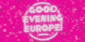 """Schriftzug """"Good Evening Europe"""""""