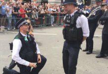 Polizisten-Heiratsantrag