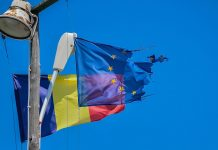 Flaggen EU/Rumänien