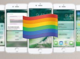 iPhone mit Regenbogen-Emoji