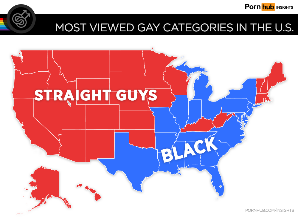Most viewed gay categories in the US