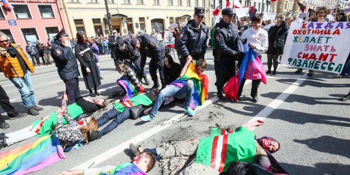St. Petersburg: Proteste zum 1. Mai