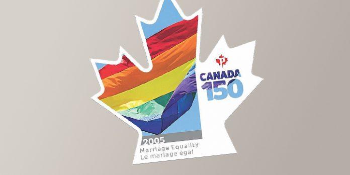 Briefmarke zur Ehe-Öffnung