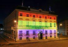 Bundeskanzleramt in Regenbogenfarben
