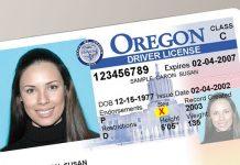 Führerschein von Oregon
