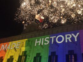 Feiern zur Öffnung der Ehe in Malta