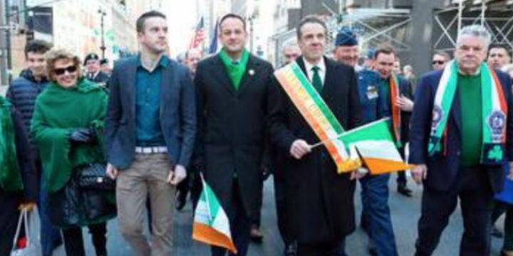 Leo Varadkar bei der Sr.-Patricks-Parade in New York