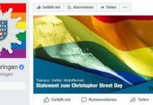 Facebook-Auftritt der Polizei Thüringen