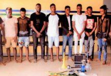 Festgenommene in Nigeria