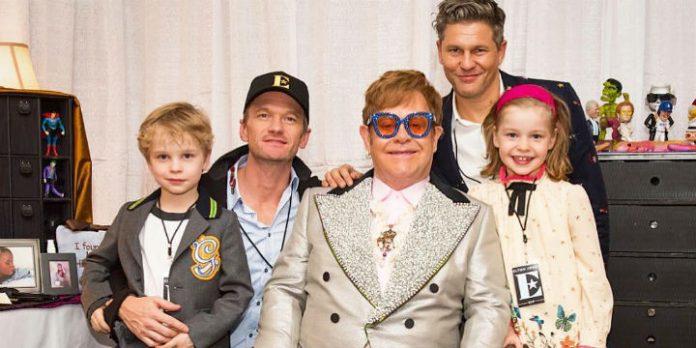 Sir Elton John, Neil Patrick Harris mit Familie