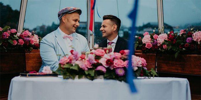 Wedding-Pärchen Jürgen und Jürgen