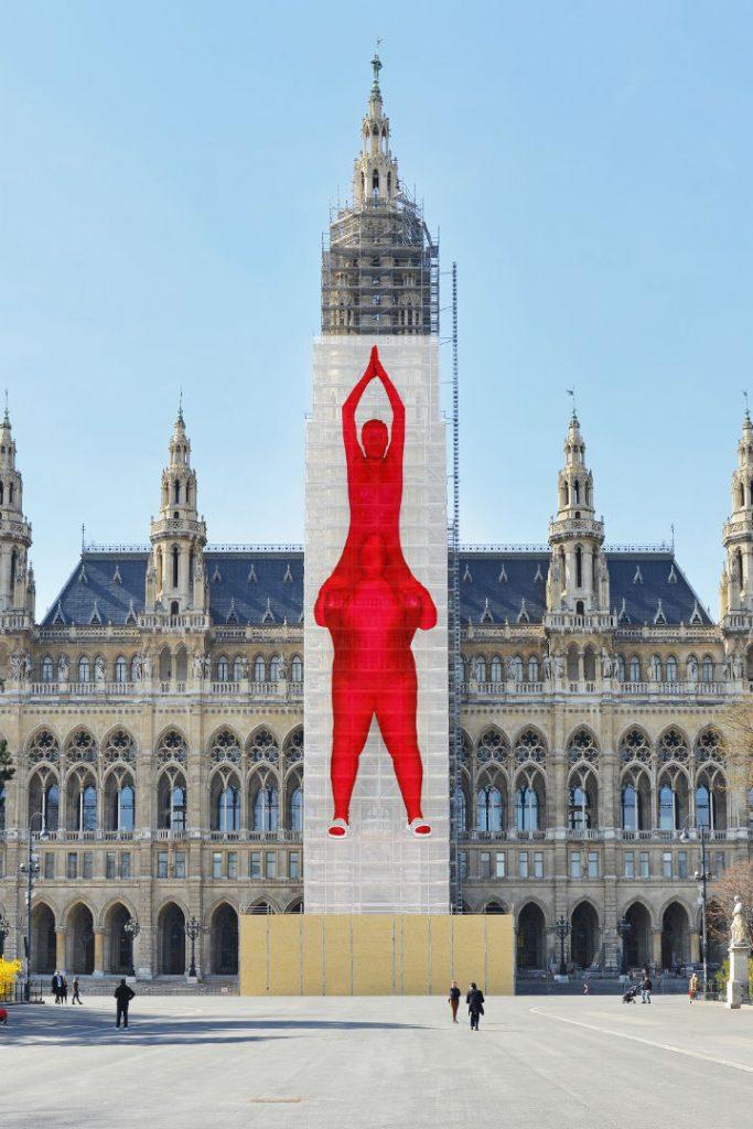 Rendering Motiv auf dem Rathaus-Turm