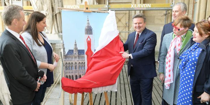 Bürgermeister Ludwig enthüllt den Entwurf