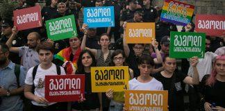 LGBTIQ-Aktivisten in Tiflis