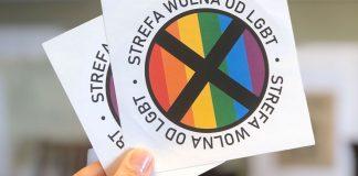 """Aufkleber """"LGBT-freie Zone"""""""