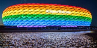 Allianz-Arena in Regenbogen-Farben