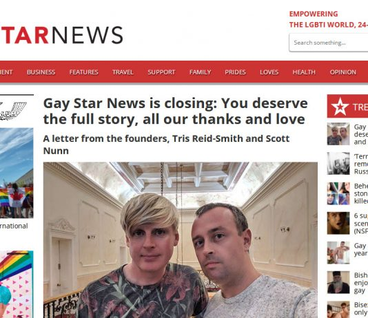 Screenshot GayStarNews