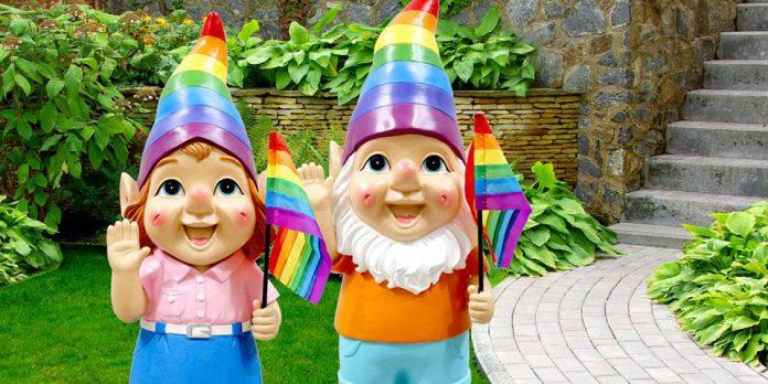 Regenbogen-Gartenzwerg