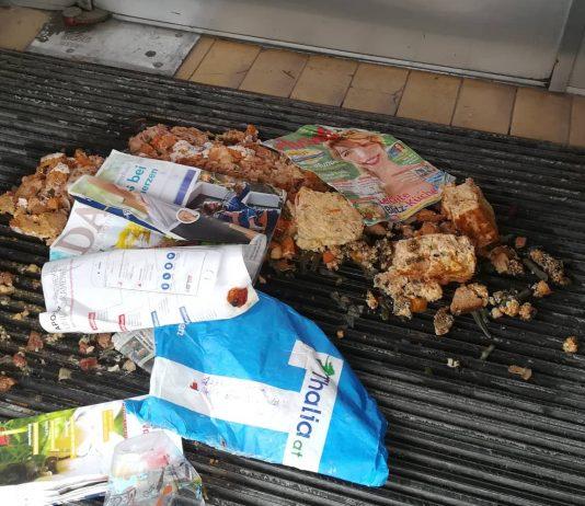 Müll vor der HOSI Linz
