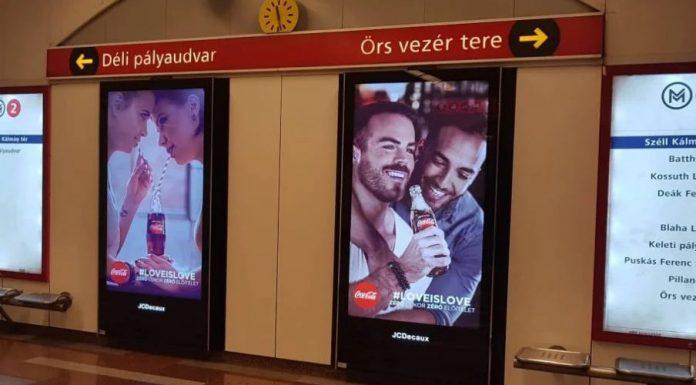 LGBT-Werbung von Coca-Cola in Budapest