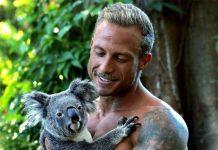 Nathan mit Koala