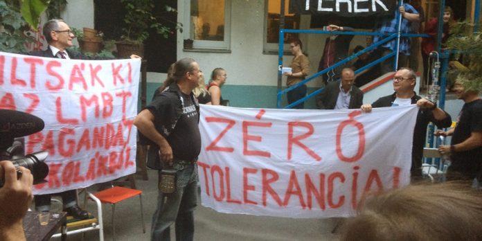 Rechtsextreme Demonstranten in Budapest