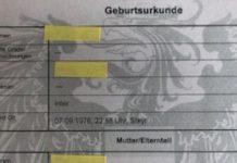 "Geburtsurkunde ""inter"""