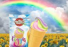 Regenbogen-Eisbecher