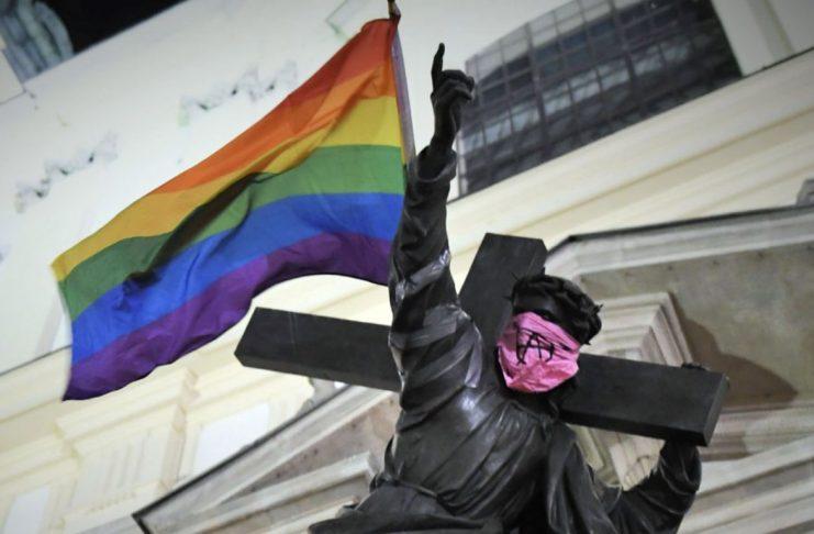 Jesus-Statue in Warschau