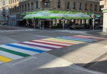 Regenbogen-Schutzweg in Margareten