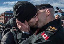 Master Corporal Brent Kenny mit Partner
