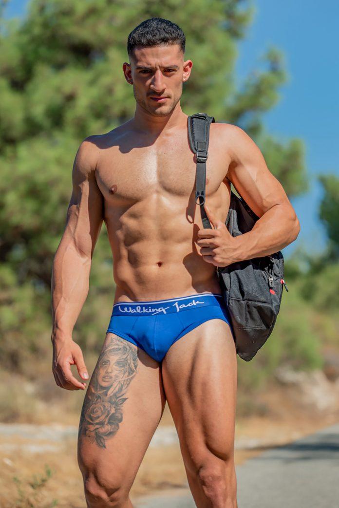 Aggelos in Blue Solid Brief