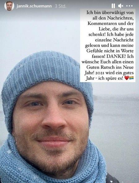 Jannik Schümann sagt Danke