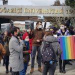 Protest auf der Zwölf Festnahmen an der Boğaziçi-Universität