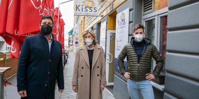 Kisss Bar Vienna als Corona-Teststraße