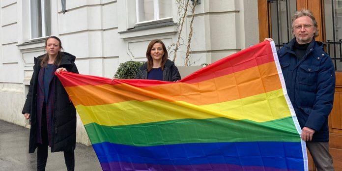 Flagge in Wien-Josefstadt