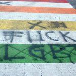 Regenbogen-Zebrastreifen in Linz