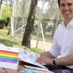 Christoph Wiederkehr mit der Regenbogenfamilien-Infobox