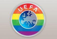 UEFA-Logo in Regenbogenfarben